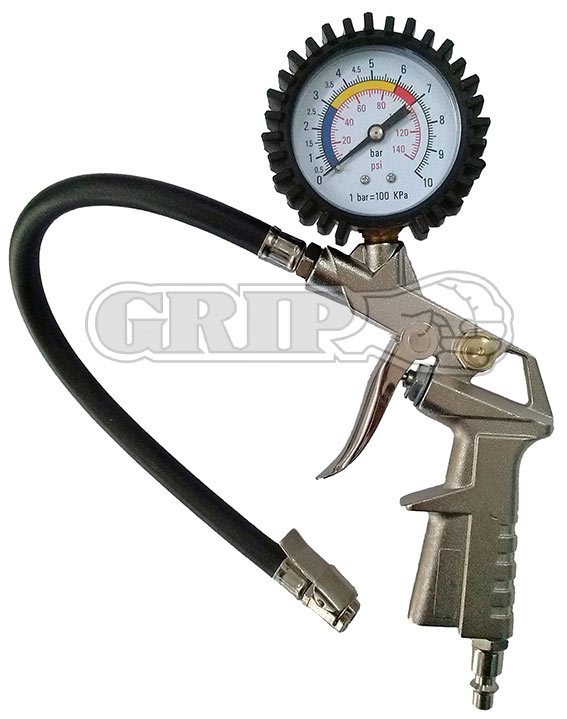 10880 - Pistol Grip Tyre Inflator with Dial Gauge