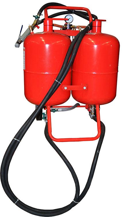 15005 - 76 Litre dual tank Abrasive/Soda Blaster, Nav