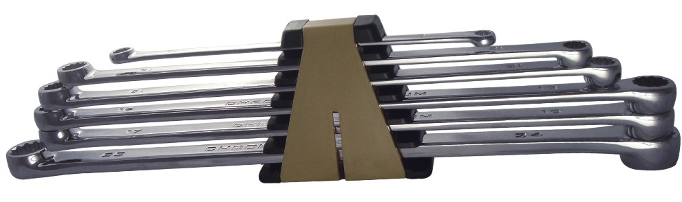 A88000 - 6 Pc Extra Long Flat Type Box End Spanner Set Metric
