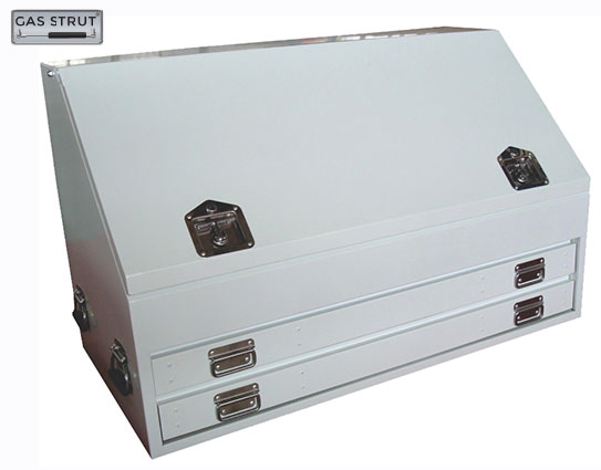 29286 - Truck Upright Steel Toolbox White