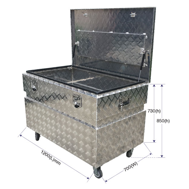 29301 - 1200x700x730mm Aluminum Site Tool Box