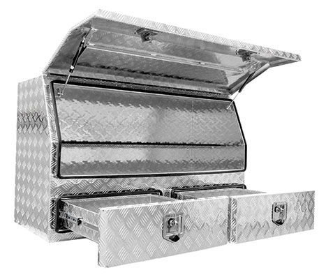 29349 - 2 Drawer Aluminium Tradesman Ute Box