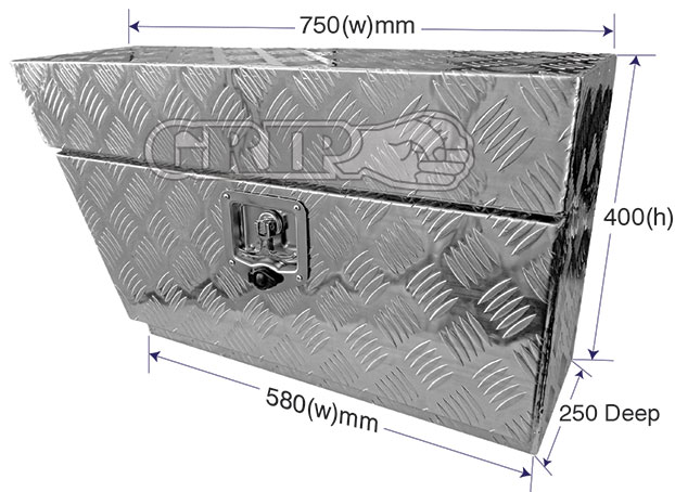 29366 - Aluminium Under Ute Tool Box Left Hand side