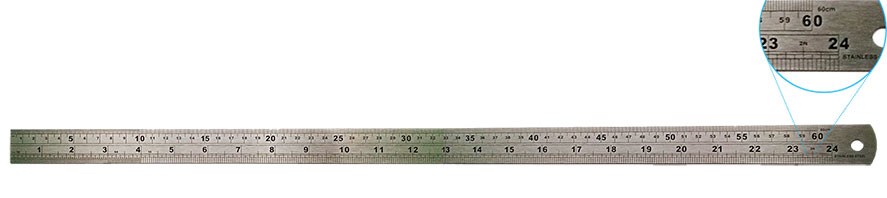"29480 - 1000mm /40"" Stainless Steel Ruler"