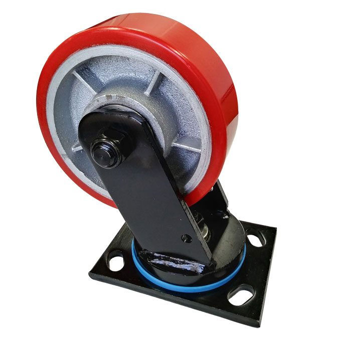 41950 - HEAVY DUTY POLYURETHANE CAST IRON WHEEL CASTOR(SWIVEL)