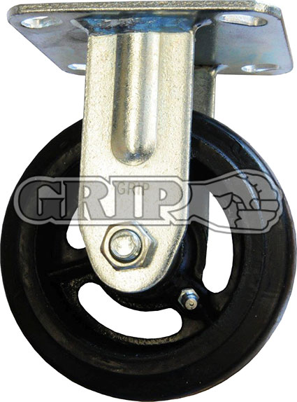 42078 - RUBBER MOULDED IRON WHEEL CASTOR(FIXED)