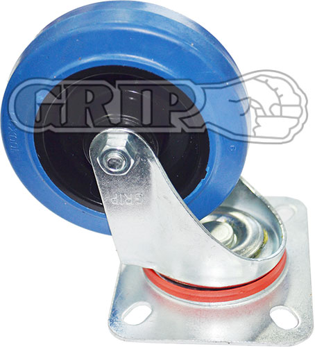 42068 - BLUE ELASTIC RUBBER CASTOR(Swivel)