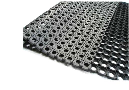 54126 - Heavy Duty Rubber Anti Fatigue Safety Mat 1000 x 1000mm