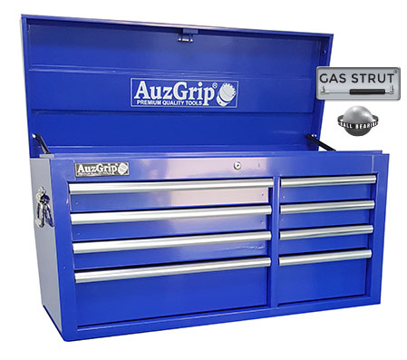 A00026 - 8 Drawer Chest Cabinet Blue