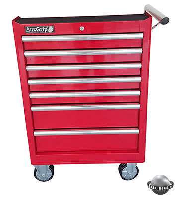 A00061 - 7 Drawer Roller Cabinet Red