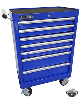 A00062 - 7 Drawer Roller Cabinet Blue