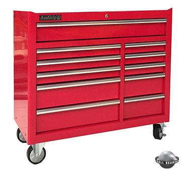 A00066 - 11 Drawer Roller Cabinet Red