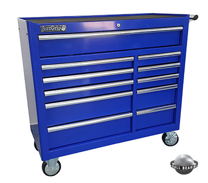 A00067 - 11 Drawer Roller Cabinet Blue