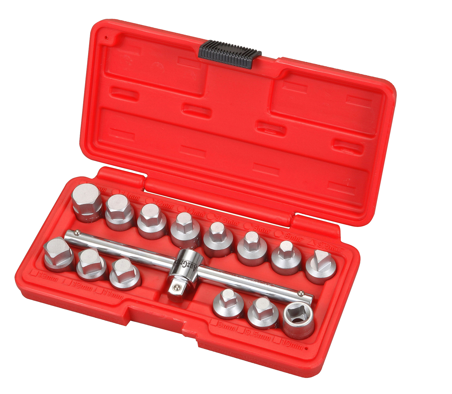 "A16235 - 15 Pc 3/8"" Sq. Dr. Oil Drain Plug Key Set"