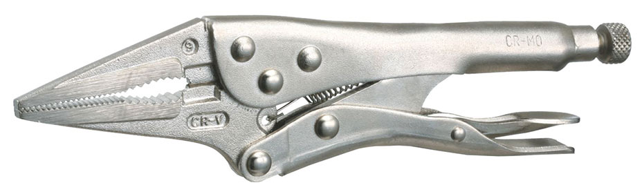 A56075 - Long Nose Locking Pliers 150mm