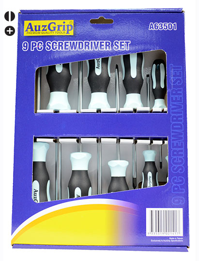 A63501 - 9 Pc Screwdriver Set