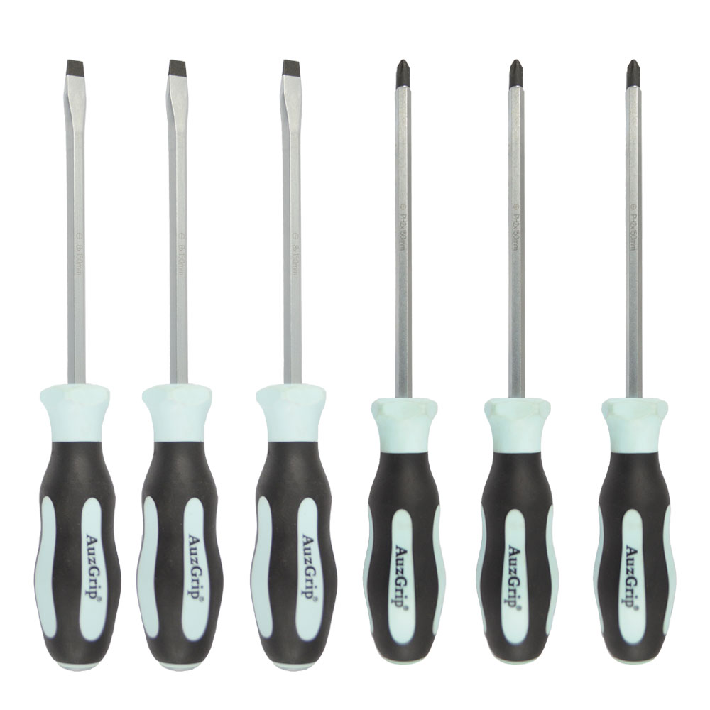 A63551 - 6 Pc Tang-Thru Screwdriver Set
