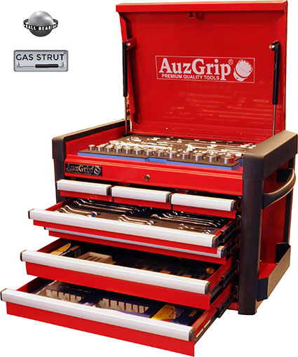 A76021 - 258 Pc Metric Tool Kit With Chest Cabinet
