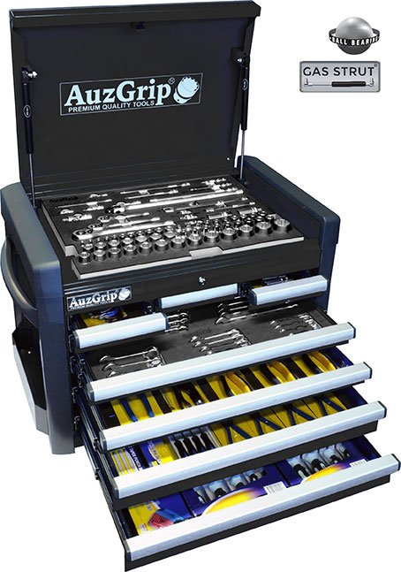 A76023 - 258 Pc Metric Tool Kit With Chest Cabinet