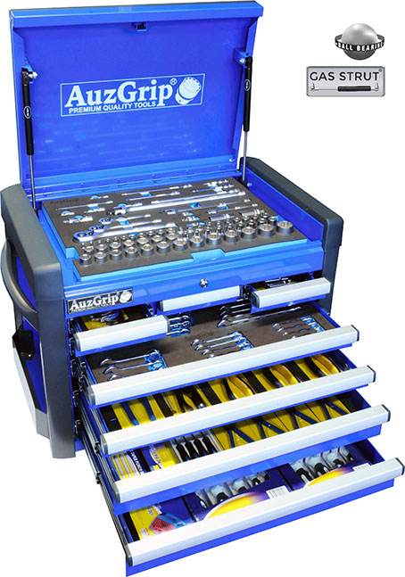 A76022 - 258 Pc Metric Tool Kit With Chest Cabinet