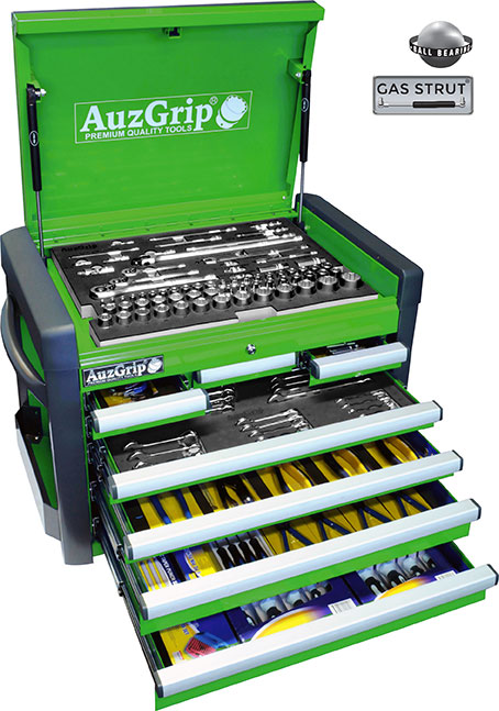 A76024 AuzGrip 258 Pc Metric Tool Kit With Chest Cabinet