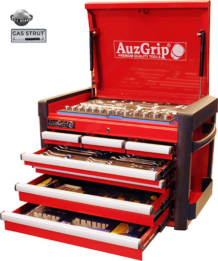 A76029 - 301 Pc Metric/SAE Tool Kit With Chest Cabinet