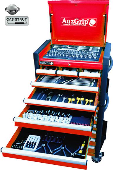 A76033 - 302 Pc Metric/SAE Tool Kit With Chest & Roller Cabinet