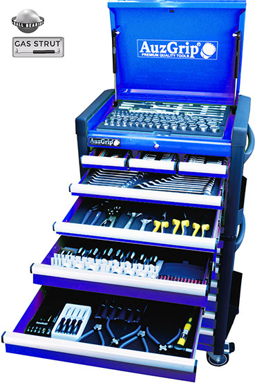 A76034 - 302 Pc Metric/SAE Tool Kit With Chest & Roller Cabinet