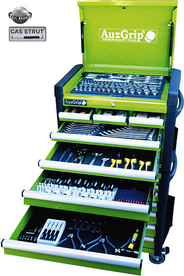 A76036 - 302 Pc Metric/SAE Tool Kit With Chest & Roller Cabinet