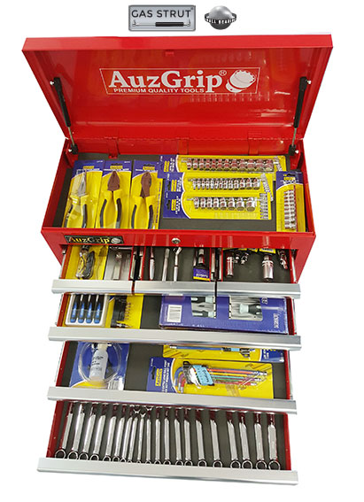 A76041 - 128Pc Metric/SAE Automotive Starter Tool Kit Red