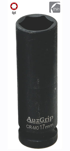 "A84567 - 1/2"" Dr. 6Pt Thin Wall Deep Impact Socket 17mm"