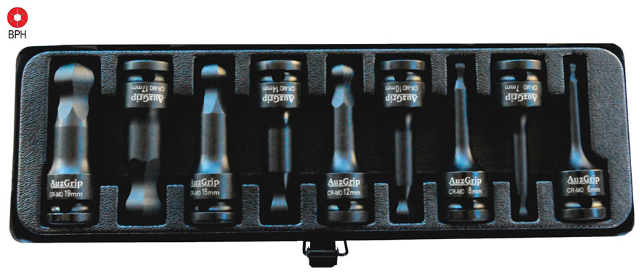 A84605 - 9 Pc 1/2'' Sq. Dr. Impact Ball End Hex Bit Socket Set