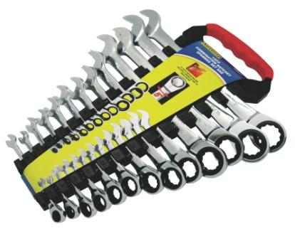 A89417 - 13 Pc Combination Ratchet Spanner Set SAE