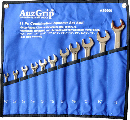 A89600 - 11 Pc Combination Spanner Set SAE