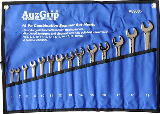 A89605 - 14 Pc Combination Spanner Set Metric