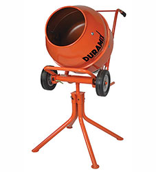 DMHM22  Duramix Portable 3.5CF Cement Mixer On Stand
