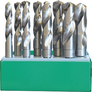 IN0103 - 8 Pc Reduced Shank Drill Bits Set HSS M2 AF Imperial
