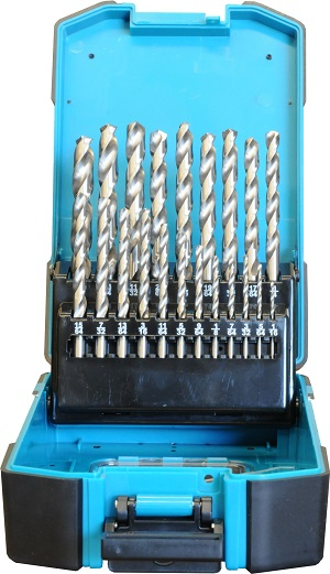 IN0101 - 21 Pc Drill Bits Set HSS M2 Imperial