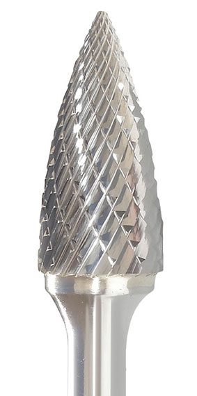 INSG-3  Tree Shape with Pointed End Carbide Burr Double Cut