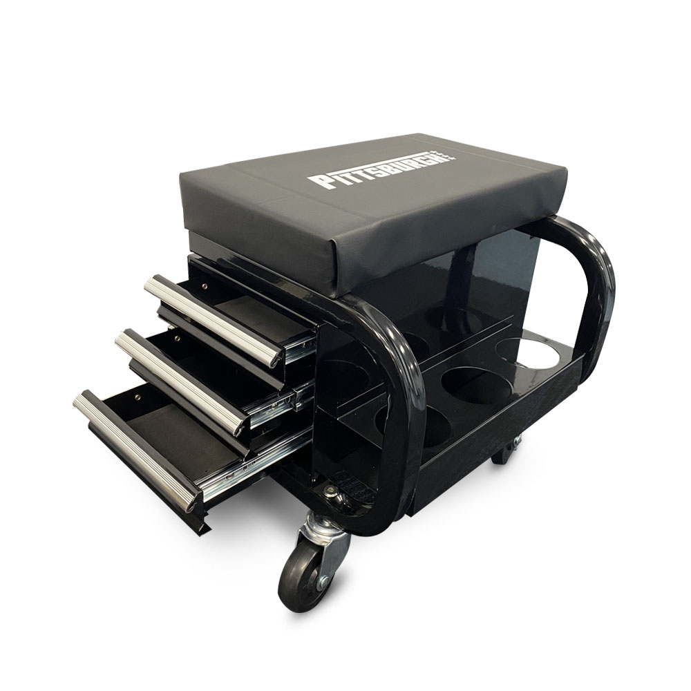 P20304- 3 Drawer Mobile Tool Storage Cabinet Roller Seat