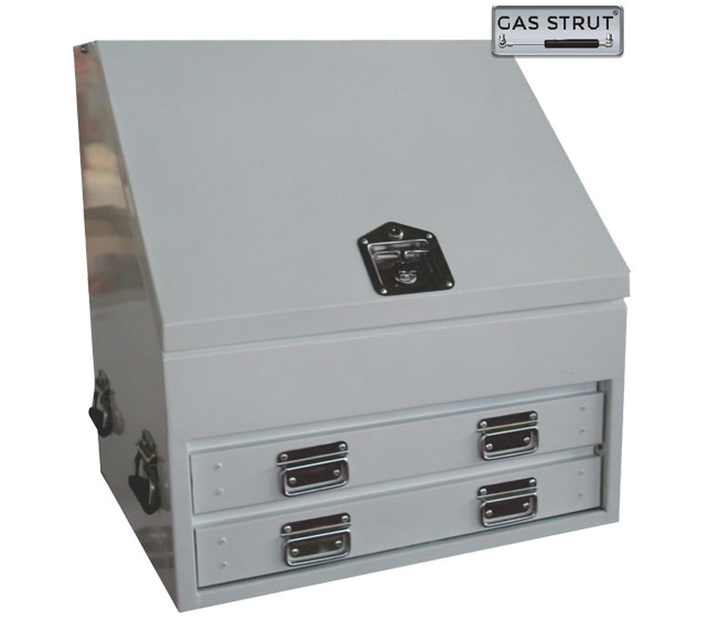 29285 - Truck Steel Upright Toolbox 700 x 600 x 750mm White