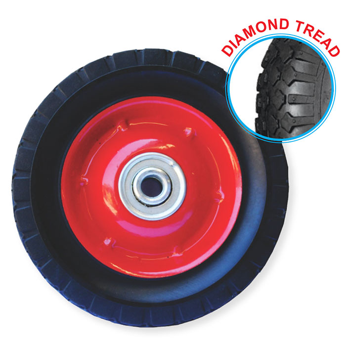 "52097 - Grip 150mm 40kg Semi Pneumatic Rubber Tyred Wheel 5/8""Axle Diameter"