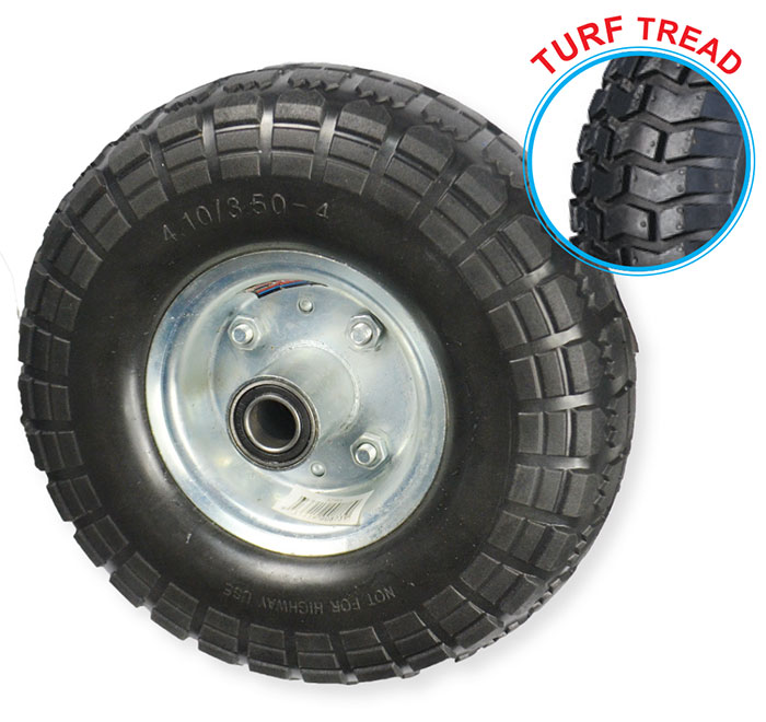 "52101 - Grip 260mm 136kg Offset Puncture Proof Wheel 3/4"" Axle Diameter"