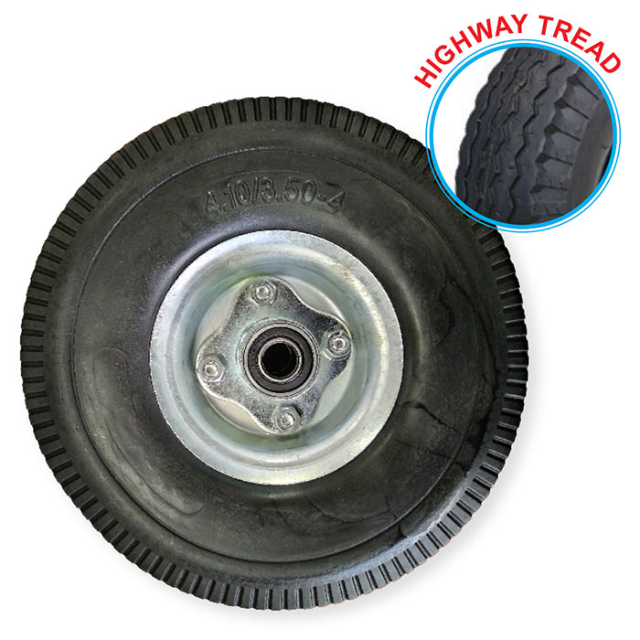 "52102 - Grip 260mm 180kg Offset Puncture Proof Wheel 3/4"" Axle Diameter"
