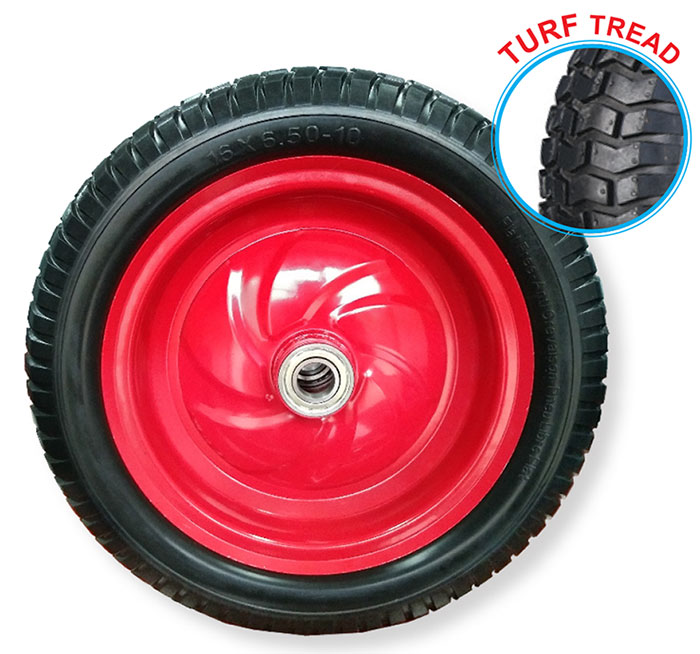 52121 - Grip 400mm 200kg Steel Centered Puncture Proof  Wheel 25mm Axle Diameter