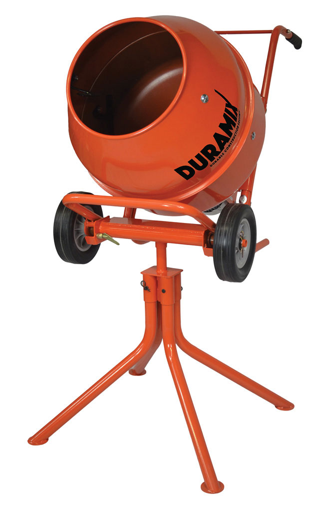DMHM22-DURAMIX PORTABLE 3.5CF CEMENT MIXER ON STAND