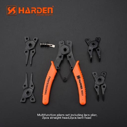 560501-Harden 5 piece multi-function Circlip plier set