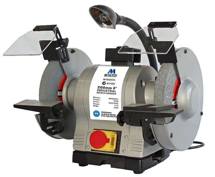 MTBG825L - Metaltech 200mm Industrial Bench Grinder