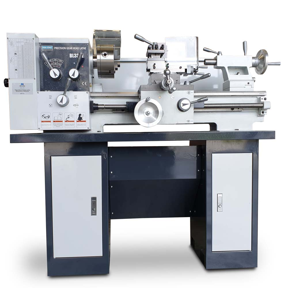 MTML330S- GEAR HEAD METAL LATHE Ø330 X 600MM WITH STAND